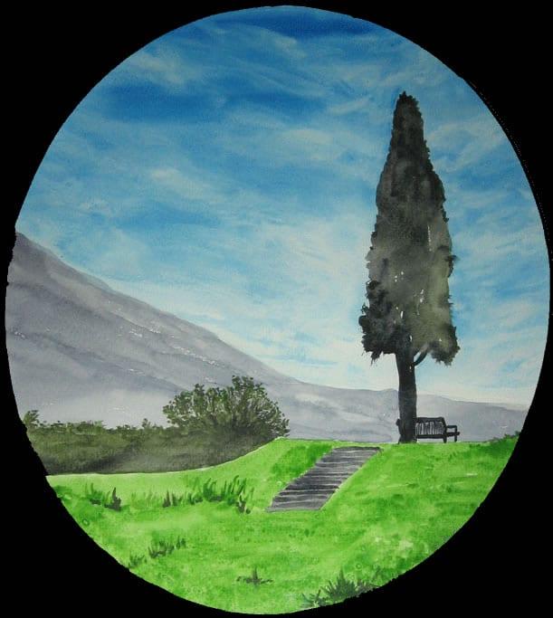 Baum mit Ruhebank