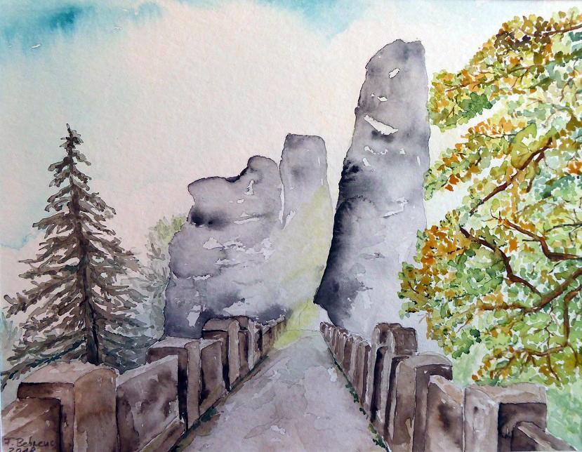 Bastei im Herbstnebel