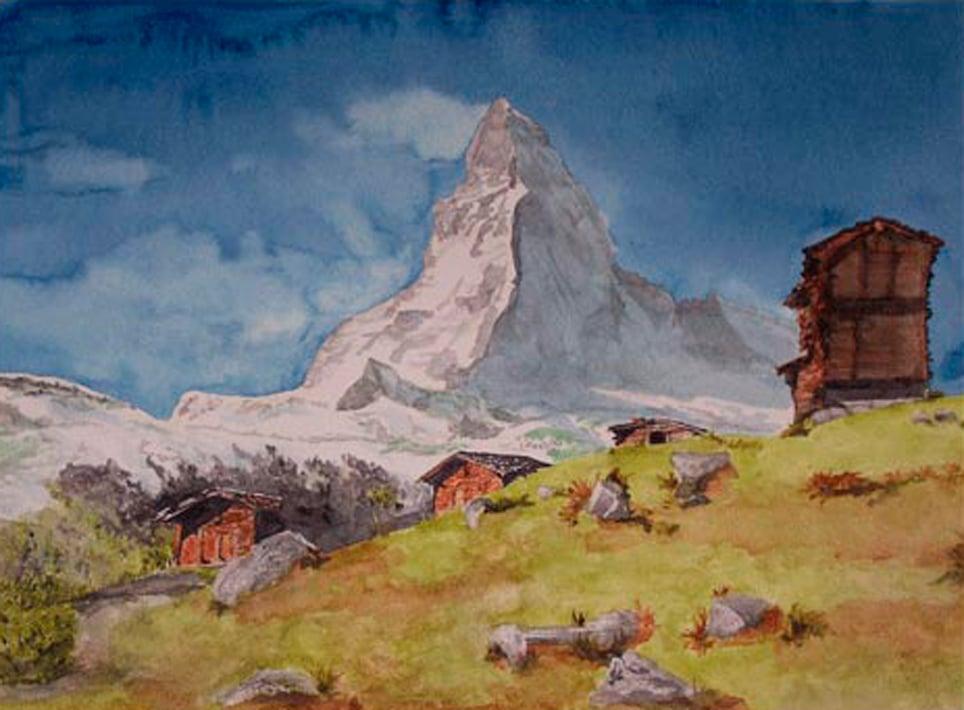 Matterhorn im Sommer